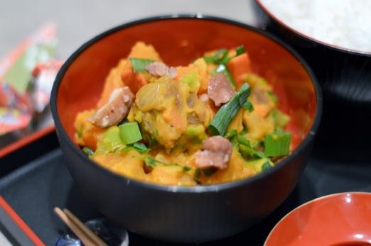Avilia's Rezept: Veganes Kürbis-Karotten-Kastanien-Curry