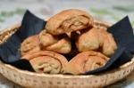 Kleine vegane Zimtschnecken (à la Veganista) gab es zum Frühstück