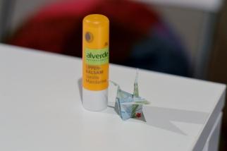 Alverde Lippenbalsam und Origami Kranich