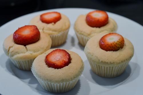 Vegane Erdbeercupcakes